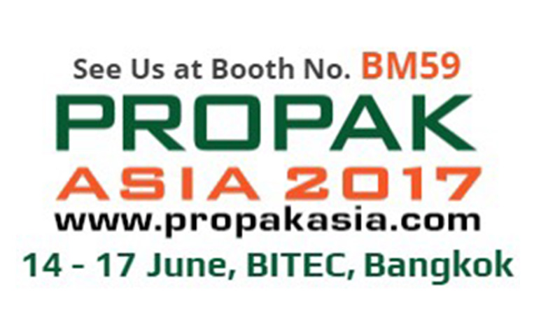 VISIT US AT PROPAX ASIA 2017 , June 14-17, 2017  BOOTH BM59