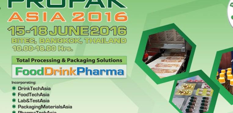 VISIT US AT PROPAX ASIA 2016  , June 15-18, 2016  AT Bitec Bangkok, Hall 7,  BOOTH 7D20