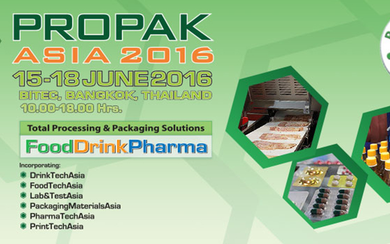 VISIT US AT PROPAX ASIA 2016  , June 15-18, 2016  AT Bitec Bangkok, Hall 7,  BOOTH 7D20